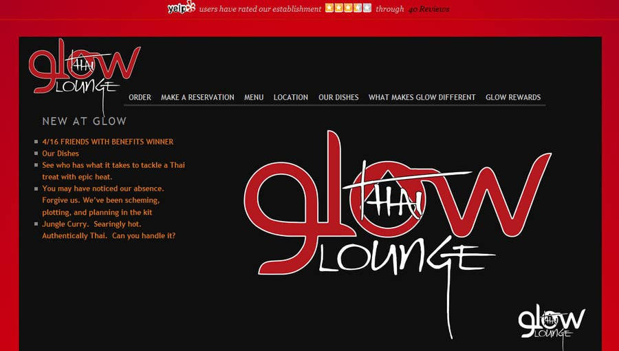 Bài tham dự cuộc thi #400 cho Logo Design for Glow Thai Lounge
