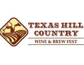 #38 for Logo Design for Texas Hill Country Wine & Brew Fest af danumdata