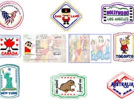 #13 for FUN and responsive passport and destination stamps design for SAAS av TasfiaArni