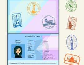 #32 for FUN and responsive passport and destination stamps design for SAAS by aku59a7abbbb1f0e