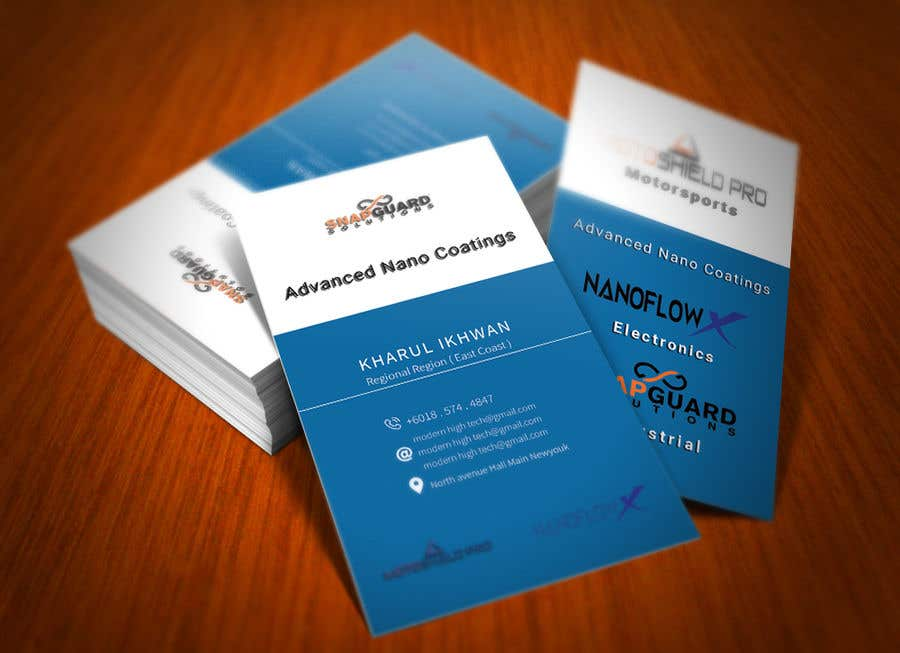 Entry #82 by engmdmarufhossai for Modern High Tech Business Card ...