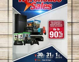 abgsabirin90 tarafından Design a Flyer for Video Games Warehouse Sales. -- 2 için no 74
