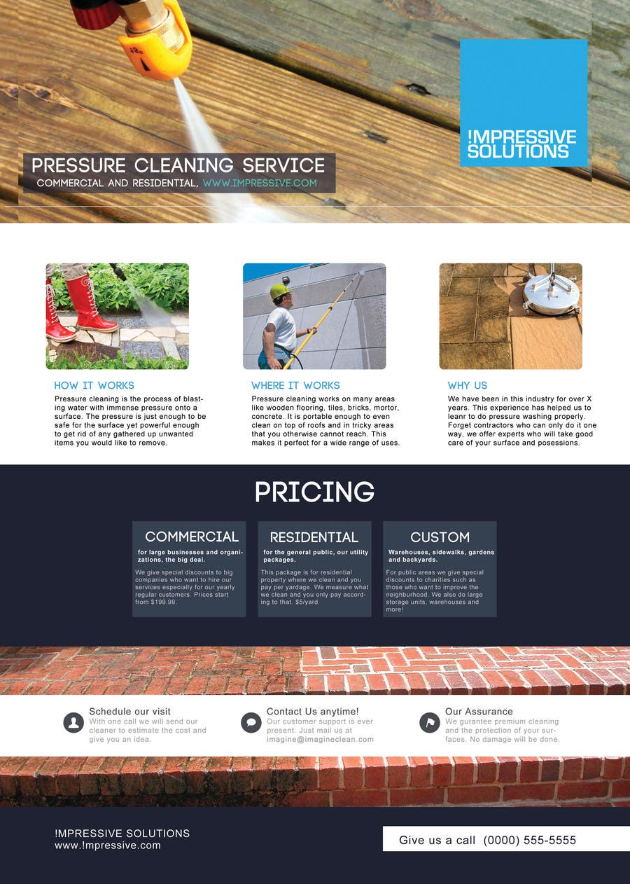 design a flyer for a pressure cleaning company lancer 35 for design a flyer for a pressure cleaning company by sammi67