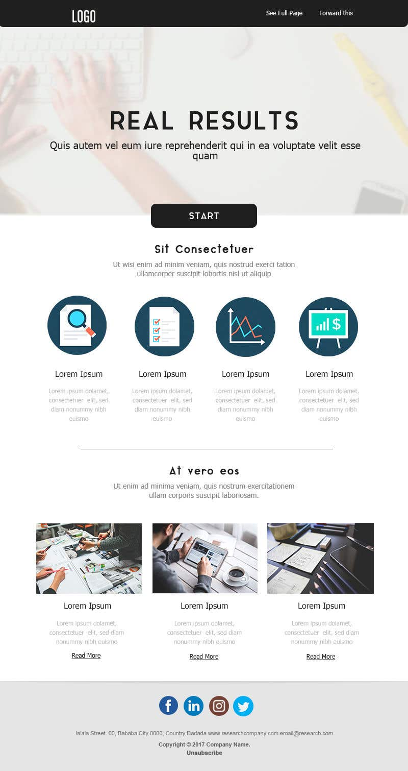 Entry 28 By Isbenlolo For Design An Html Template For Email