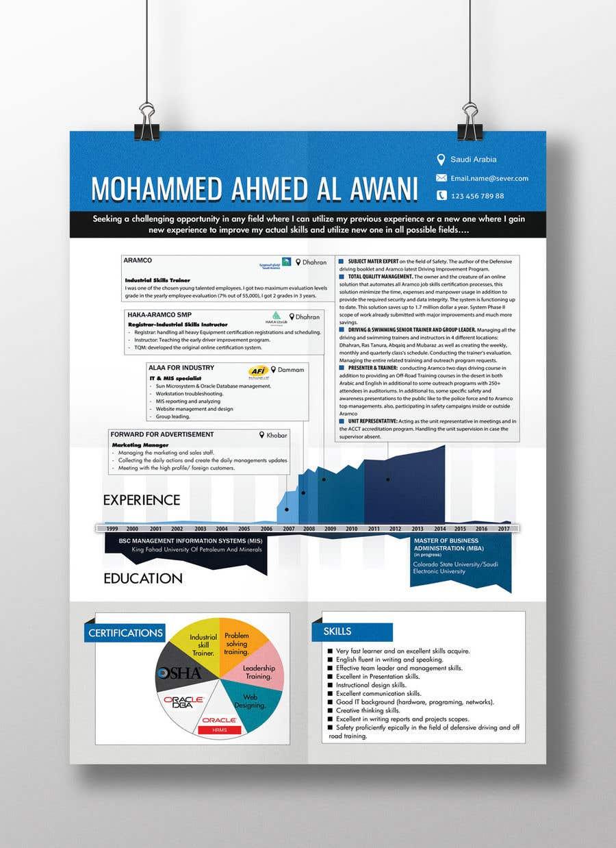 Entry #23 by resumedesigner for Infographic CV / Resume. | Freelancer