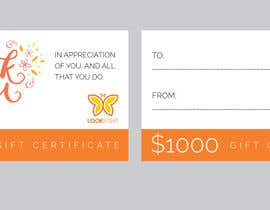 #43 for $1,000 Gift Certificate Design af vexelartz