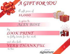 #48 for $1,000 Gift Certificate Design af neha190