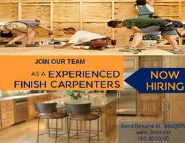 #14 per I have a Moulding business and I'm looking to hire experienced finish carpenters to install all types of doors trim. Please provide me with a advertising poster both in Spanish and English.  I am looking for a poster to advertise the job openings thanks da AkS0409