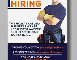 #13 per I have a Moulding business and I'm looking to hire experienced finish carpenters to install all types of doors trim. Please provide me with a advertising poster both in Spanish and English.  I am looking for a poster to advertise the job openings thanks da jebu1997