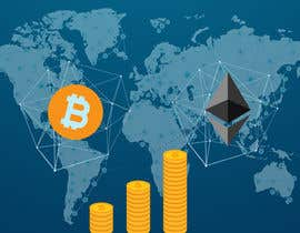 #11 for Create a wallpaper image for my site (themes : finance/crypto currencies/bitcoin/planet) by boushib