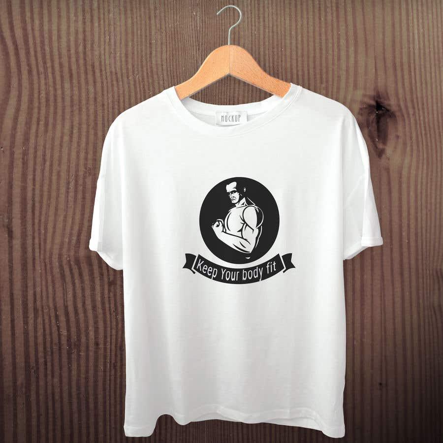 da9e931c4 Entry  5 by nurallam121 for T-shirt design for fitness brand ...