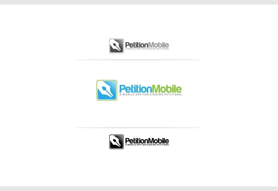 Kilpailutyö #                                        2                                      kilpailussa                                         Logo Design for PetitionMobile