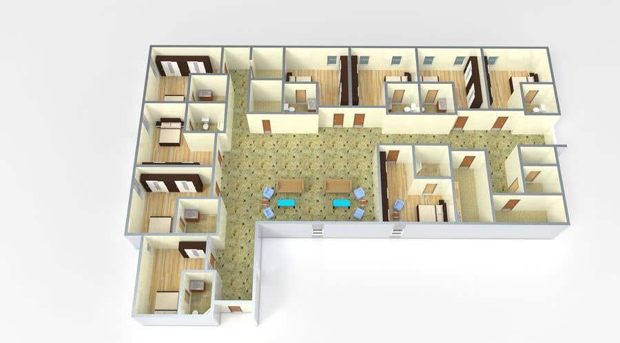 Entry 20 By Arkhitekton007 For 3d Floor Plan Of Nursing Home