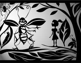 #7 for Fairy tale illustration (black+white, contour style) by picxart