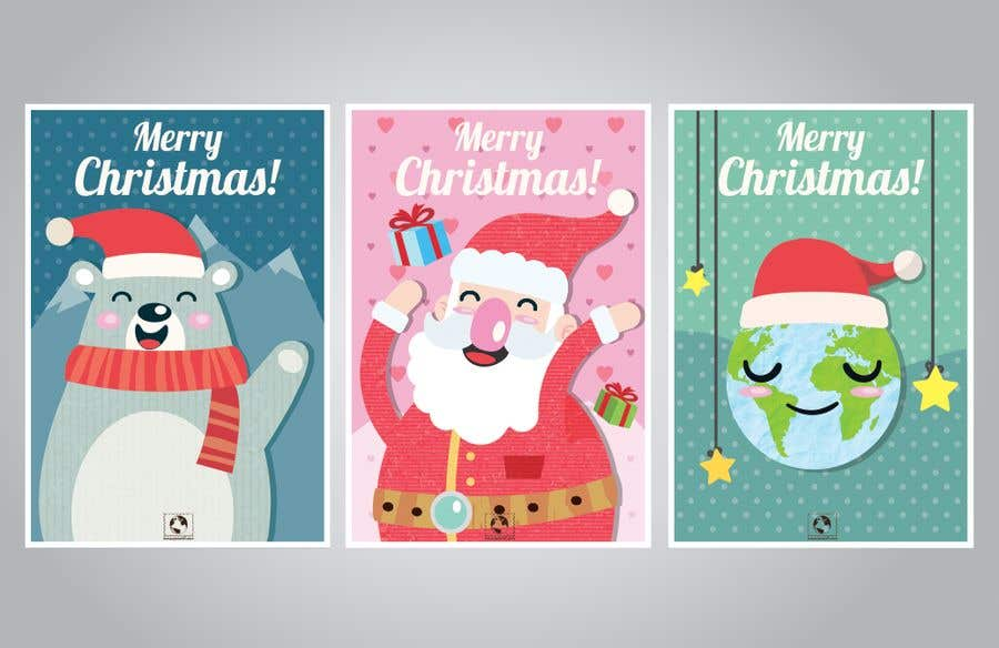entry 24 by misdrahim for develop 8 magical awesome christmas cards