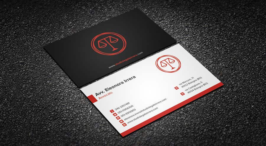 Entry 88 by iqbalsujan500 for design business cards for lawyer business card business cards for lawyer reheart Choice Image