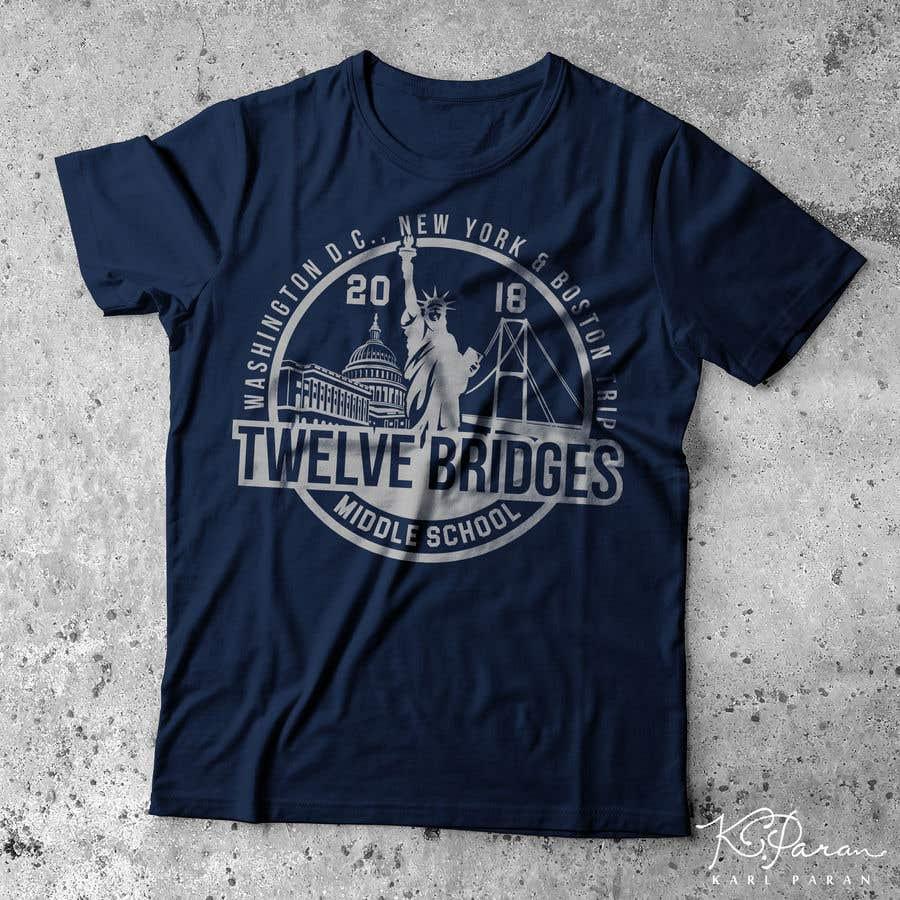 Konkurrenceindlæg #52 for Design a t-shirt for Washington DC, New York & Boston Trip