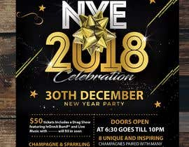 #34 for Need a flyer for a Dec 30th new year themed party by stylishwork