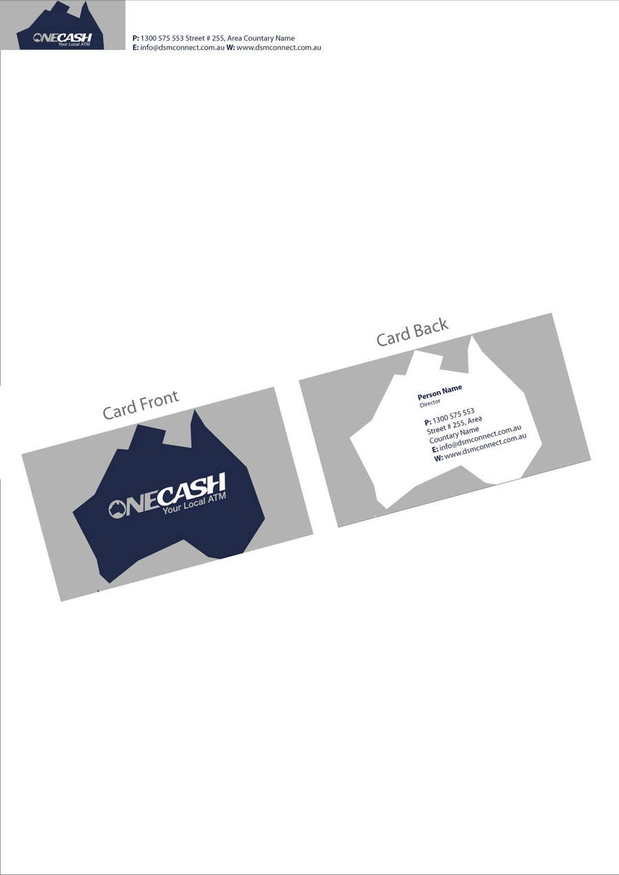 Proposition n°                                        49                                      du concours                                         Stationery Design for ONECASH LIMITED