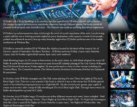 #12 for Design a DJ Biography Page. by gnalini01