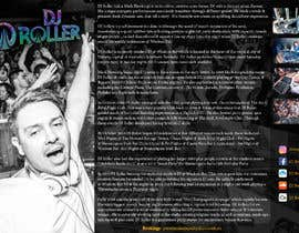 #15 for Design a DJ Biography Page. af gnalini01