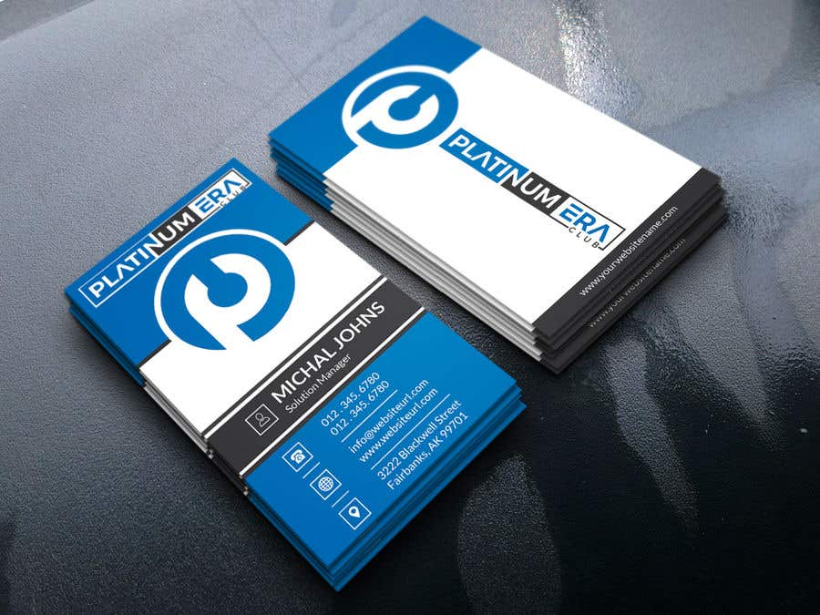 Entry #446 by pronceshamim927 for Design Business Card for Platinum ...