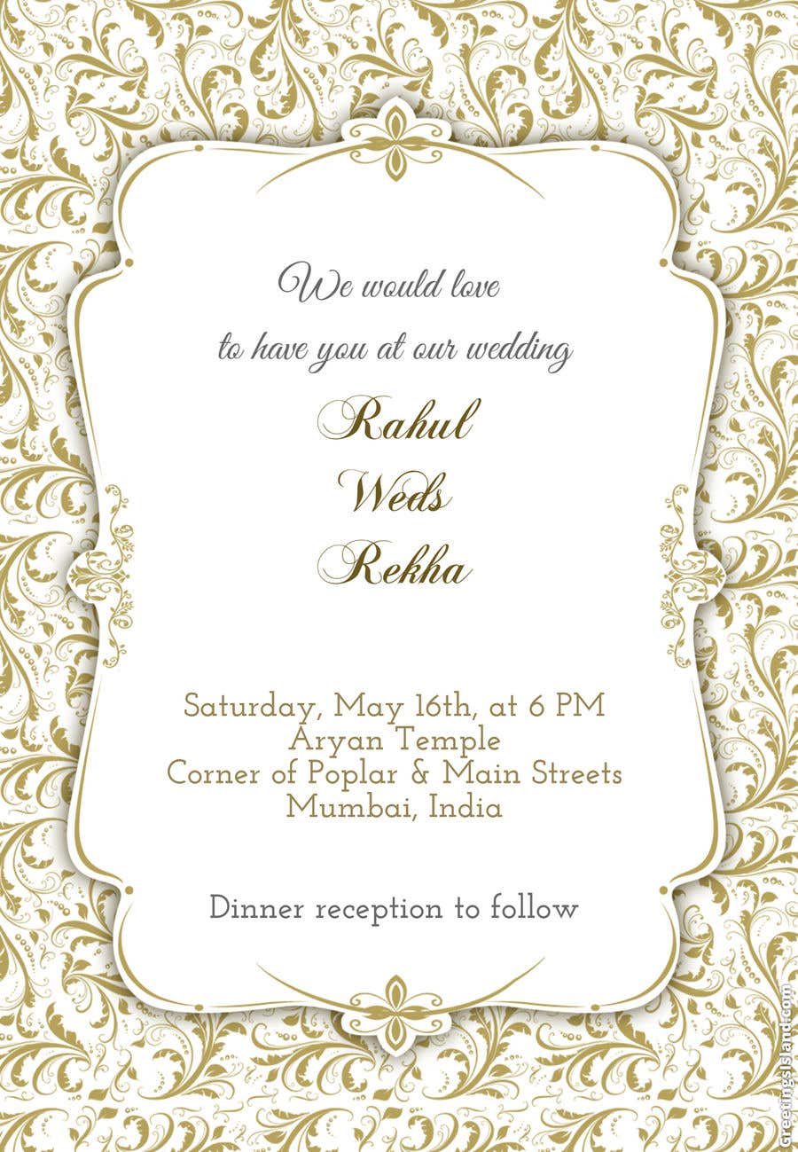 Entry #3 by aryan21182118 for Sikh Wedding Invite Insert Design ...