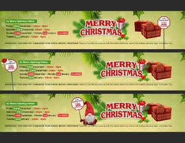 #70 for Christmas banner for website by danicrisan