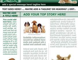 #6 untuk Newsletter Template for Animal Rescue developed in Illustrator oleh zachjg