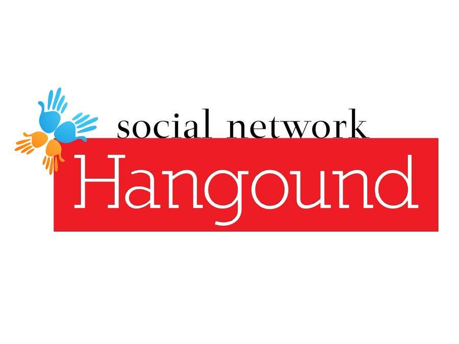 Logo design for Hangound (hangound.com), a new web social network based in NY. için 46 numaralı Yarışma Girdisi