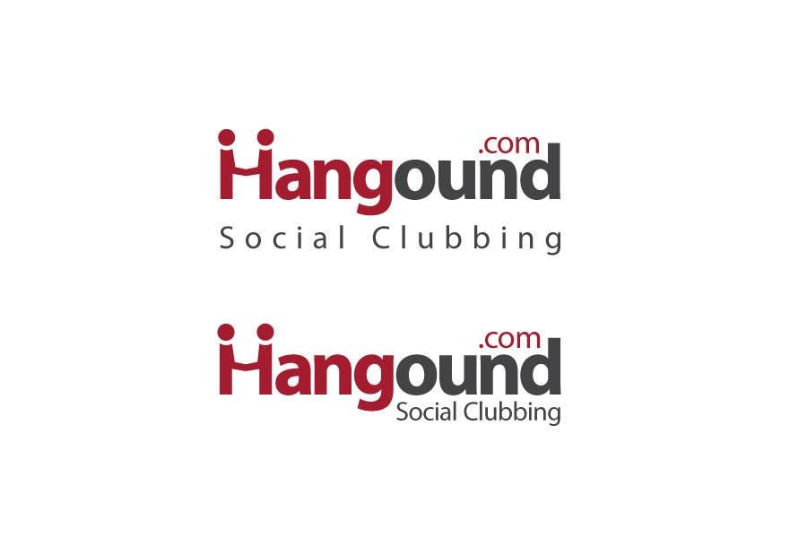 Logo design for Hangound (hangound.com), a new web social network based in NY. için 38 numaralı Yarışma Girdisi