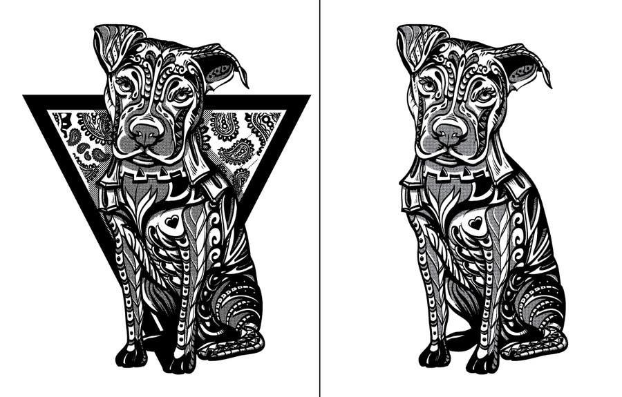Contest Entry #                                        58                                      for                                         Tribal Pit Bull Dog