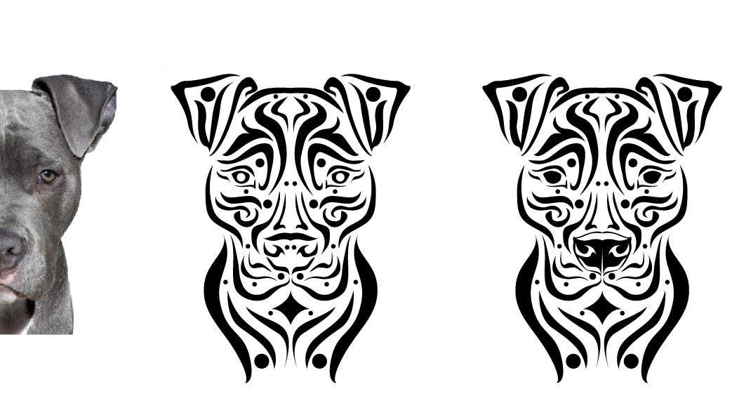 entry 29 by spector01 for tribal pit bull dog freelancer. Black Bedroom Furniture Sets. Home Design Ideas