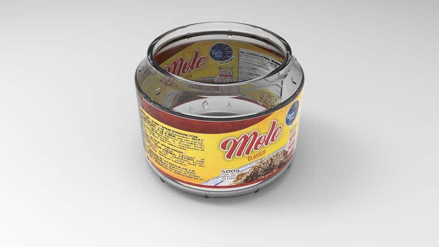 Penyertaan Peraduan #16 untuk Glass Jar design 500g and 250g plus caps and label STEP files for making moulds and dies.