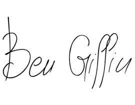#6 for Looking for a professional hand drawn digital signature similar to the below examples for the name Ben Griffin. af zippo33
