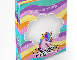 #10 for Rainbow Unicorn Hair Chalk Package Design af vivekdaneapen