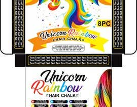#17 for Rainbow Unicorn Hair Chalk Package Design af adview1