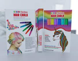 #28 for Rainbow Unicorn Hair Chalk Package Design af rashidabegumng