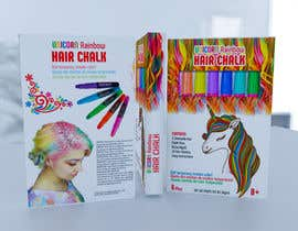 #29 for Rainbow Unicorn Hair Chalk Package Design af rashidabegumng