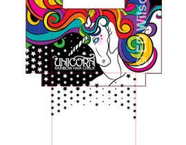 #5 for Rainbow Unicorn Hair Chalk Package Design af frostyerica