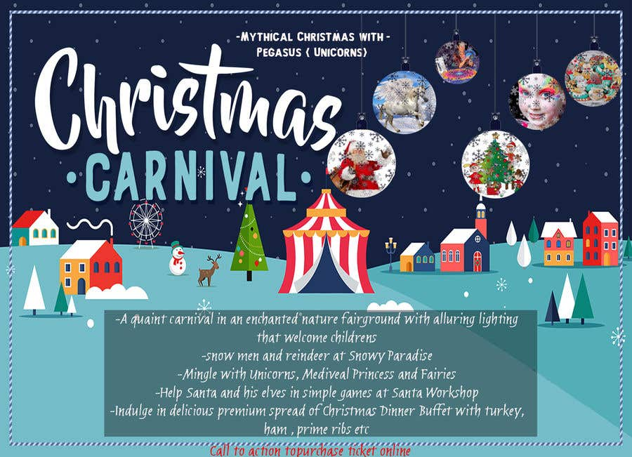 Contest Entry #89 for Design Christmas Carnival Marketing Material