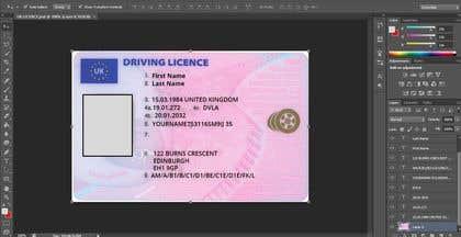 Gambar                             UK DRIVING LICENCE TEMPLATE -- 2