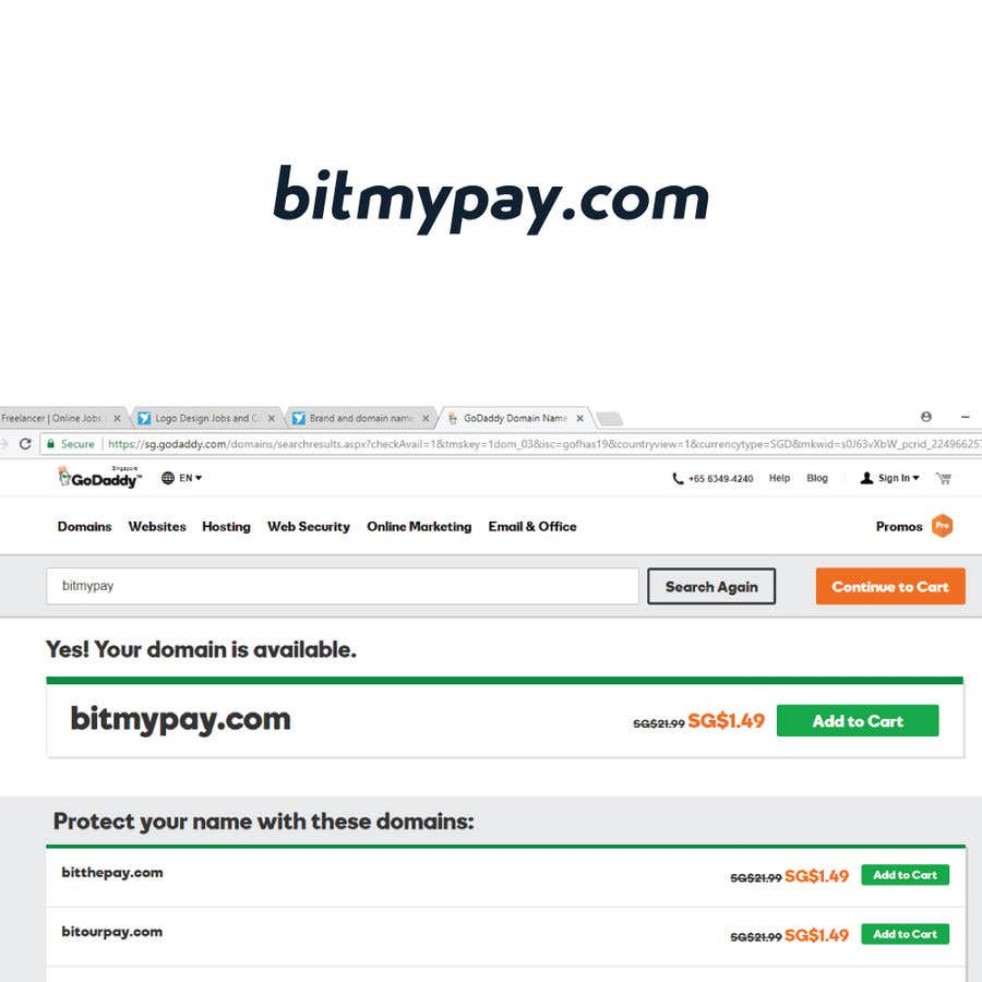 Entry #313 by bappydesign for Brand and domain name for crypto