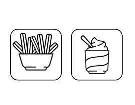 Nro 26 kilpailuun Make line art / monoline icons for churros restaurant käyttäjältä josdanielsilvam