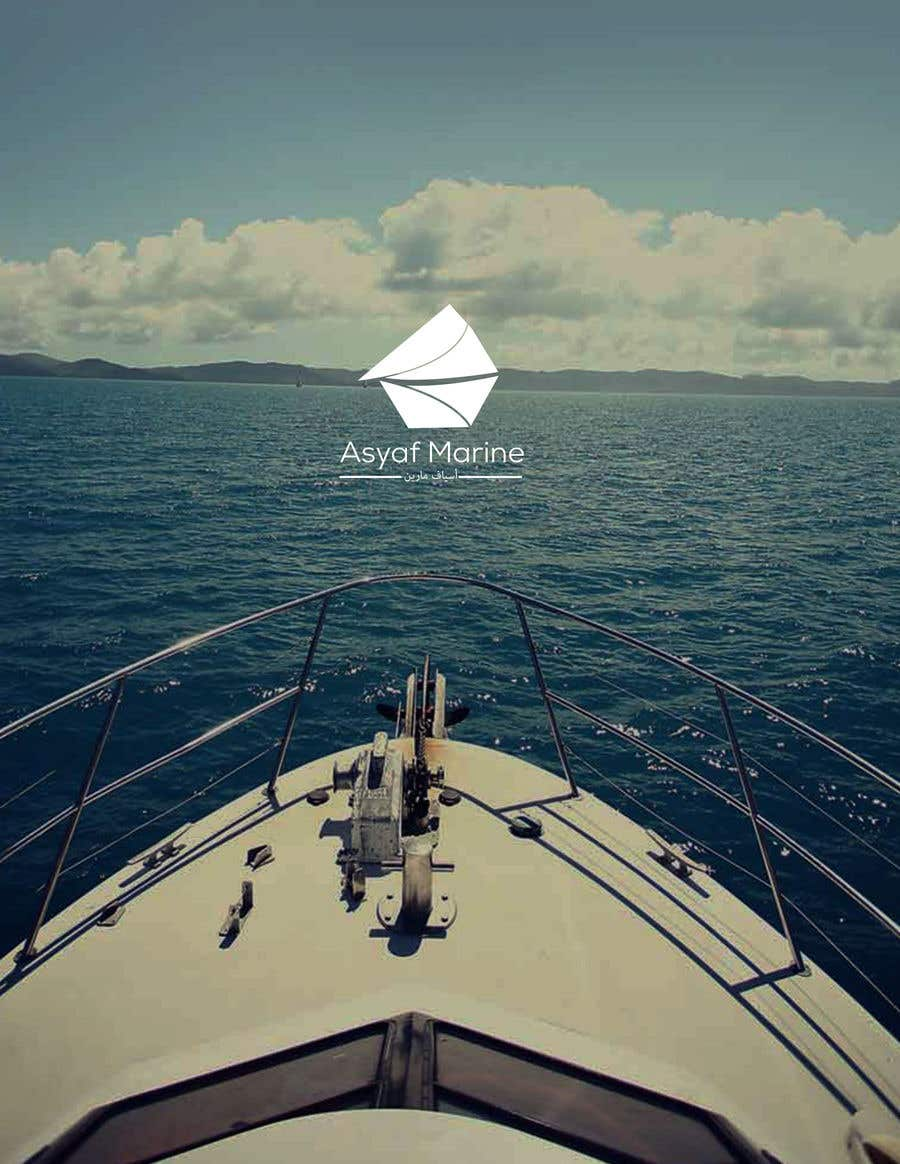 """Kilpailutyö #393 kilpailussa I am starting my new marine company for boats and yachts. I am looking for a creative and a significant logo. I have nothing particular in my mind and I hope you can help me with that. My companies name is  """"Asyaf Marine"""" or in arabic """"اسياف مارين""""."""