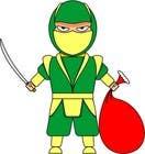 Graphic Design Entri Peraduan #4 for Graphic Design for Christmas Ninja Outfit