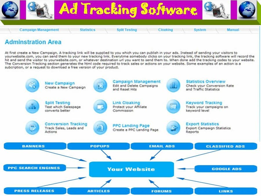 Contest Entry #                                        37                                      for                                         Graphic Design for Ad Tracking Software