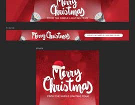 #20 untuk Christmas Day Themed Banner set for our website oleh madartboard