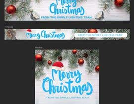#33 untuk Christmas Day Themed Banner set for our website oleh madartboard