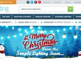 #34 untuk Christmas Day Themed Banner set for our website oleh satishandsurabhi